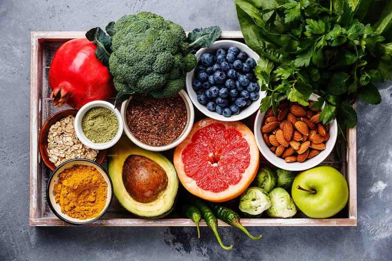 Antioxidants to help slow down the aging process and for staying well