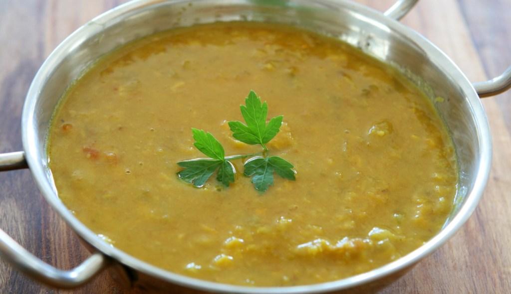 Lentil soup for a virtual dinner party