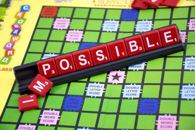Possible scrabble - share some positivity