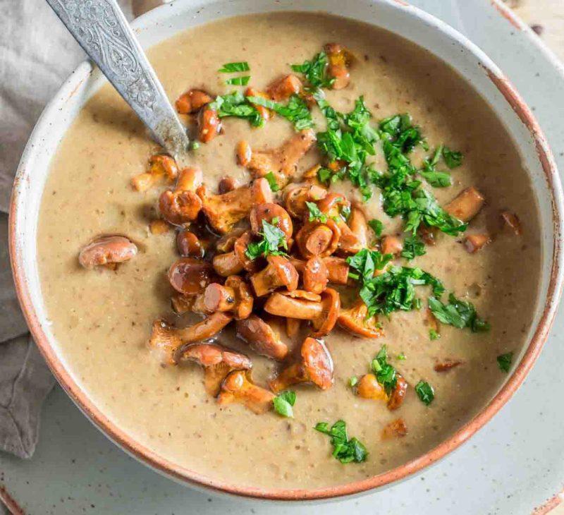 tasting menu creamless mushroom soup