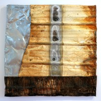 """Scorched. Brandon Long. 36x36"""" Collection of Chris Haskett and Maggie Shapiro Haskett."""