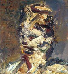 Portrait of Julia, 1983, by Frank Auerbach,