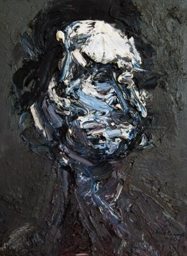 Head Two, oil and mixed media on canvas, 30″ x 22″, 2004, by Eric Pennington.
