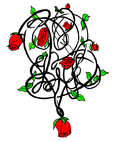 Within the rose stems is a hidden heart