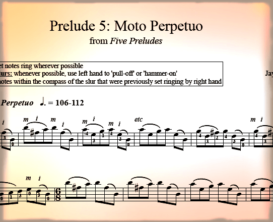 Prelude #5: Moto Perpetuo
