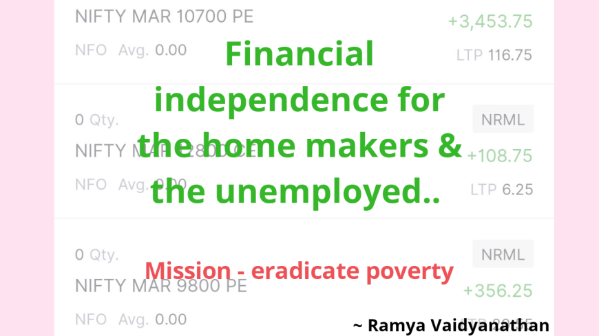 Trade your way towards financial independence!! Earn daily..