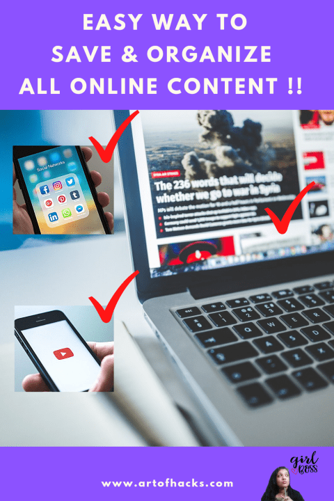 Easy way to organize all your online content !! |