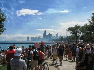 Summer is the best time to meet people in Chicago.