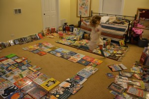 "Ali's ""Bookstore"" method for donation weekend."