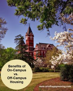 Benefits of Living On-Campus vs Off-Campus. The Art of Happy Moving. www.artofhappymoving.com