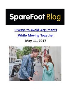 SpareFoot Blog_9 Ways to Avoid Arguments While Moving Together