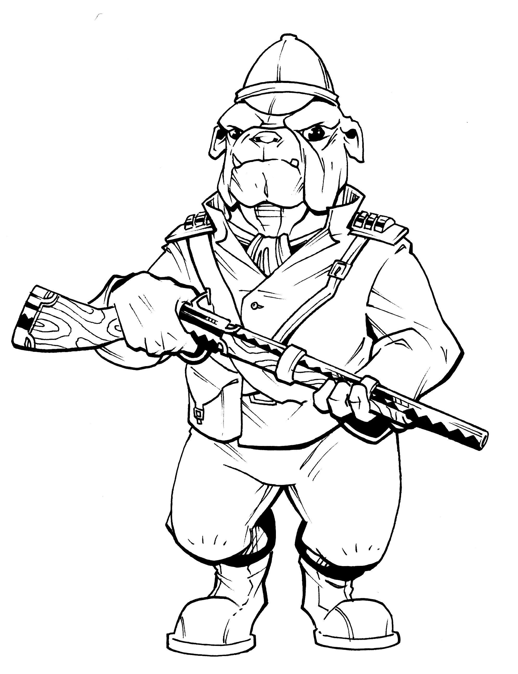 Mean Bulldog Drawings