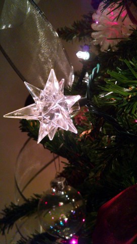 These stars go over lights and take their color; they are my favorite decorations.