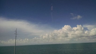 On the long drive to Key West my favorite thing to do was to look at the sky change.
