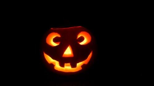 Goodbye semi-spooky happy pumpkin.