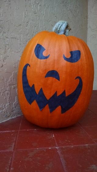 Goodbye angry pumpkin. You'll be pumpkin pie soon.