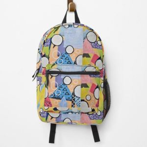 United Together, abstract art, backpack