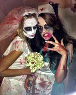 Lucy and Anna as Zombies