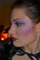 Close up of Lady Gabe's Makeup