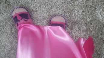 Day 2 - Wearing Unicorn Slippers with a ball gown... just because
