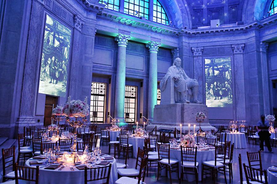 Franklin Institute Wedding Reception Marie Labbancz