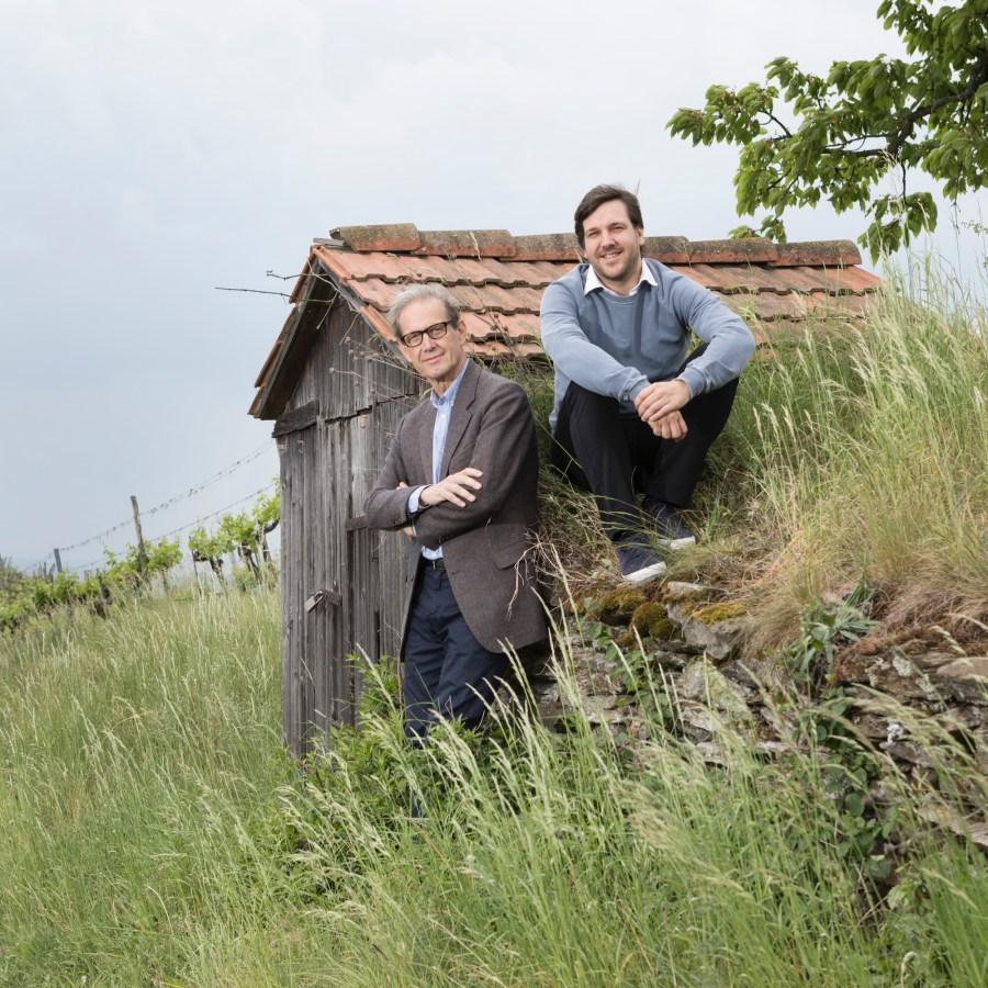 Weingut Bründlmayer - Vater Willi mit seinem ältesten Sohn Vincent