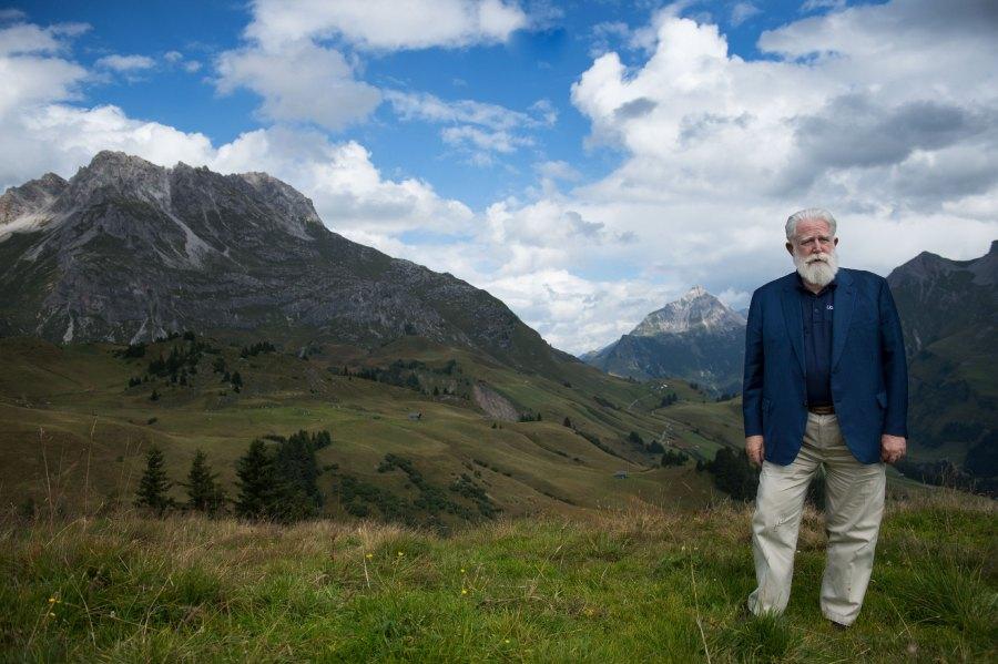 James Turrell bei seinem Besuch in Lech