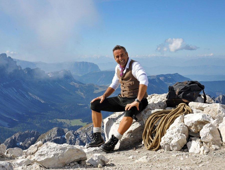 Klemera an seinem Lieblingsort, den Südtiroler Bergen