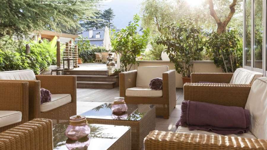 Garten im Hotel Mignon