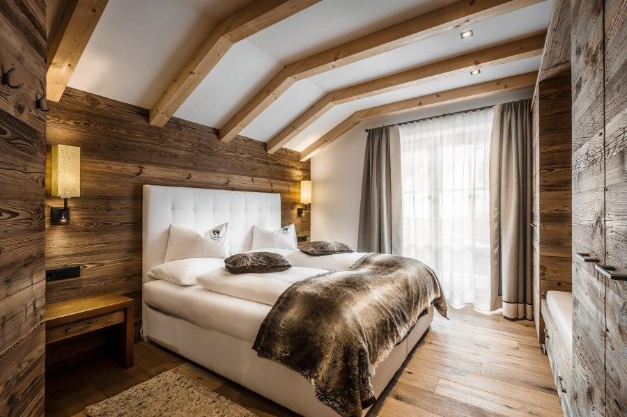Schlafzimmer im Chalet Ey de Net.