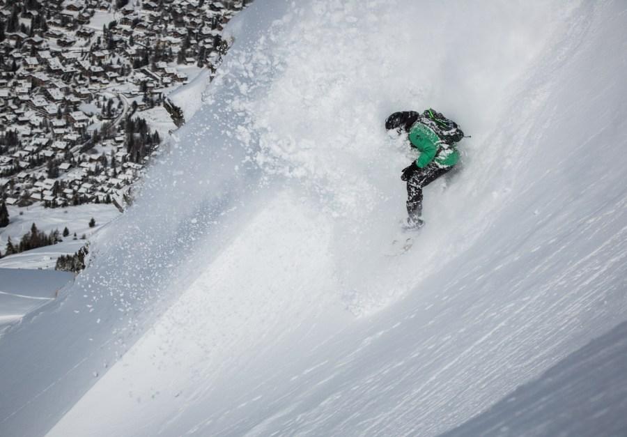Snowboarden in Verbier