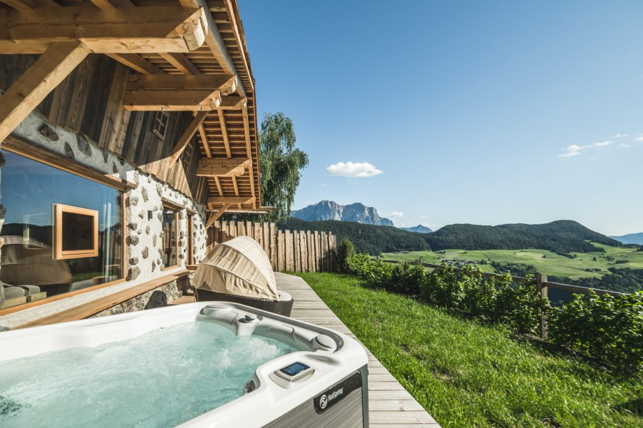 Luxuröser Hüttenurlaub in Lajen Südtirol.
