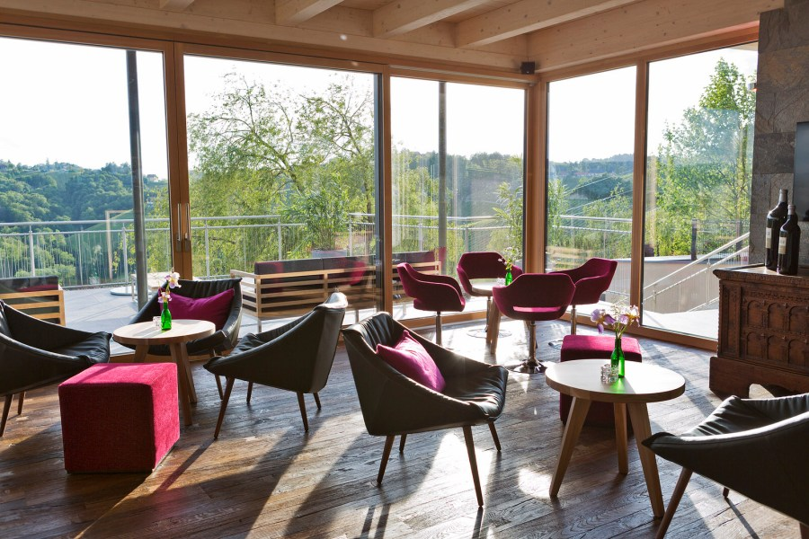 Frühstück mit Ausblick im Hotel Vincent