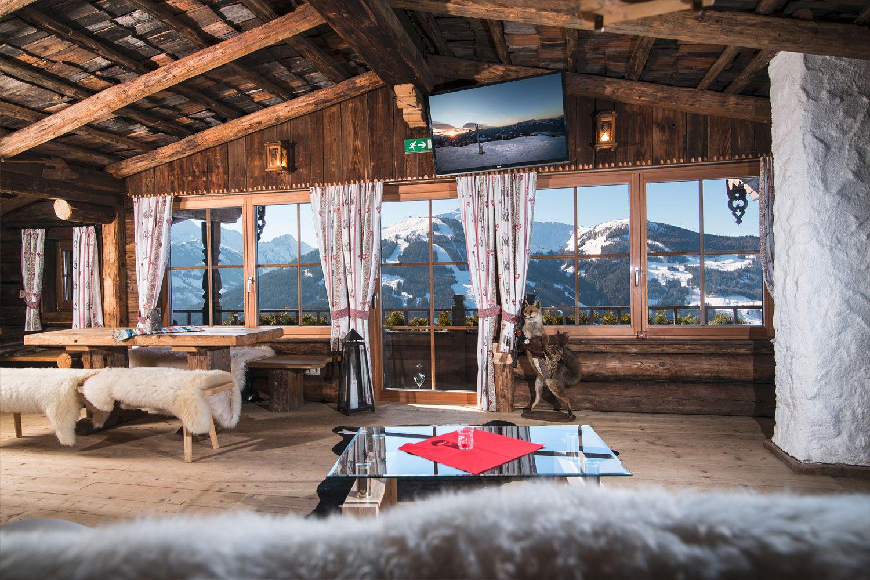 Ausblick auf die Tiroler Berg