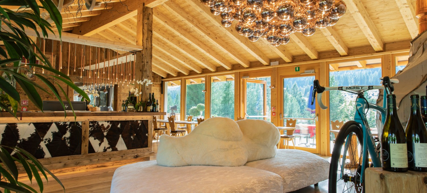 Mountain Lodge Style in der Dolomite Lodge.