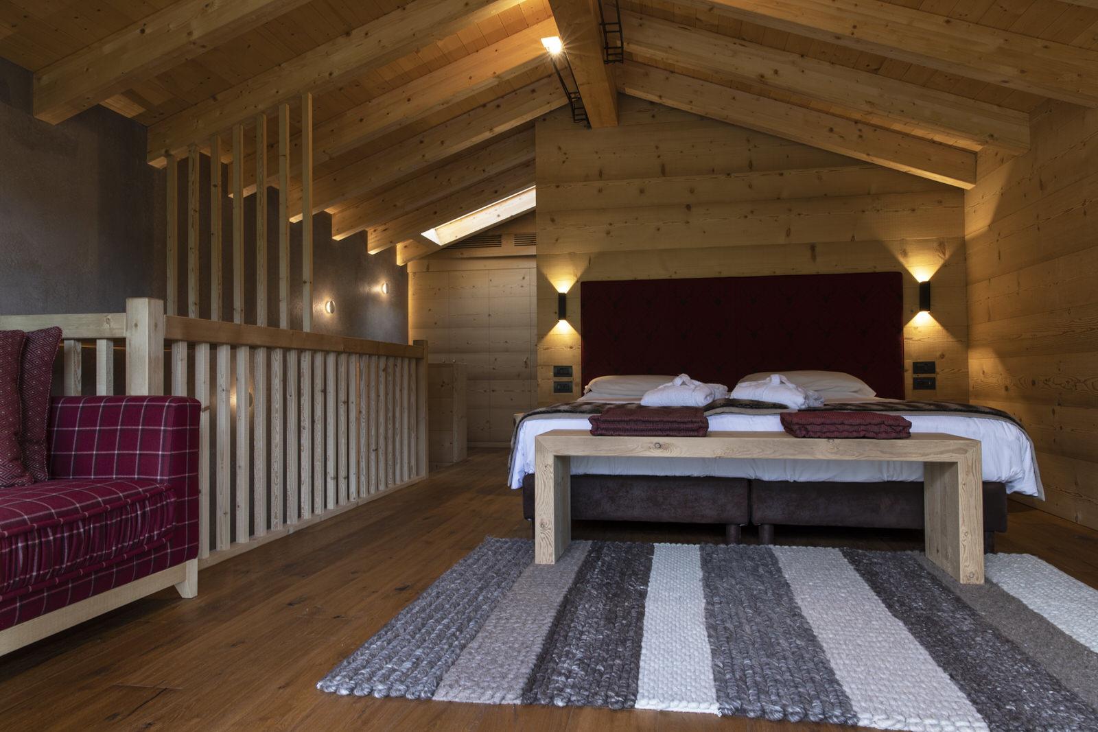 Zimmer in der Lodge.