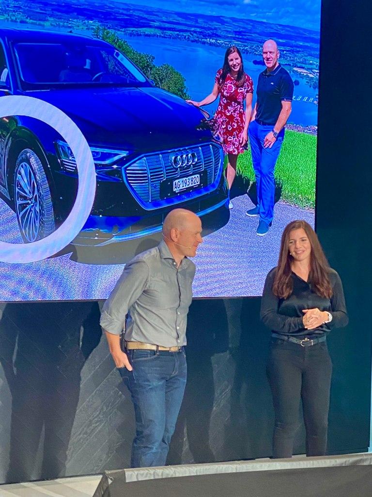 Tina Weirather, Didier Cuche: Audi Präsentation.