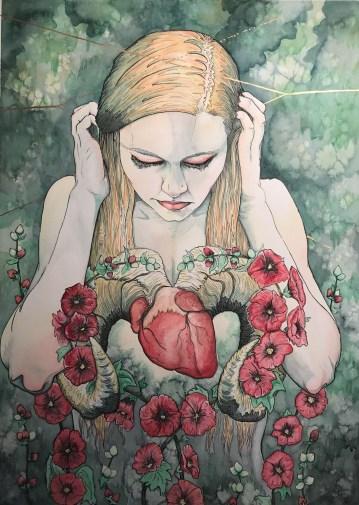 Hollyhock Heart