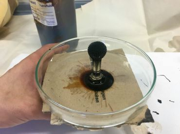 Bogomir Doringer and Bernd Oppl's experiments with ferrofluid as material for art production