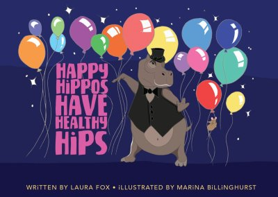 Happy Hippos Have Healthy Hips – Children's Book Illustrations