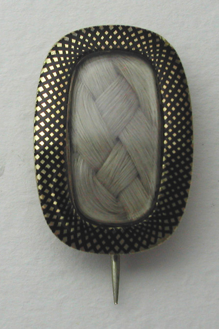 Art of Mourning Niello Brooch Georgian