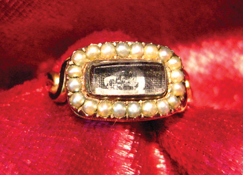 19th century memento mori ring