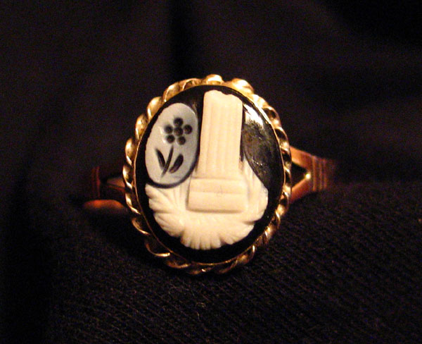 Mourning Cameo Ring Victorian