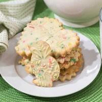 Confetti Shortbread Cookies