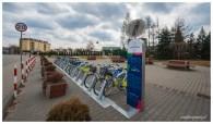 Stacja rowerów miejskich na Cyraneczki
