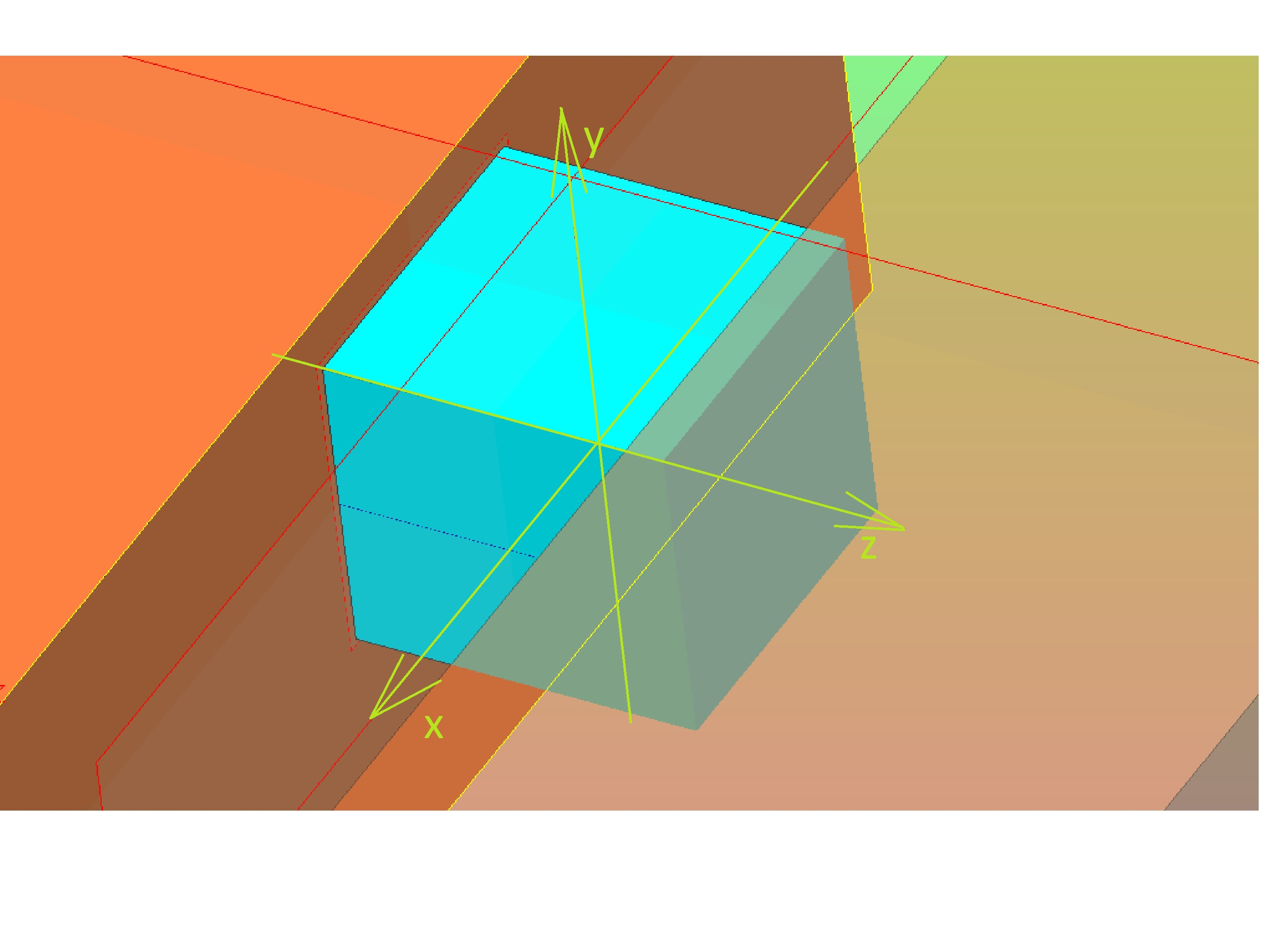 rozciaganie51 - Trójkierunkowy stan naprężenia sześcianu- wytrzymałość - zadanie 14