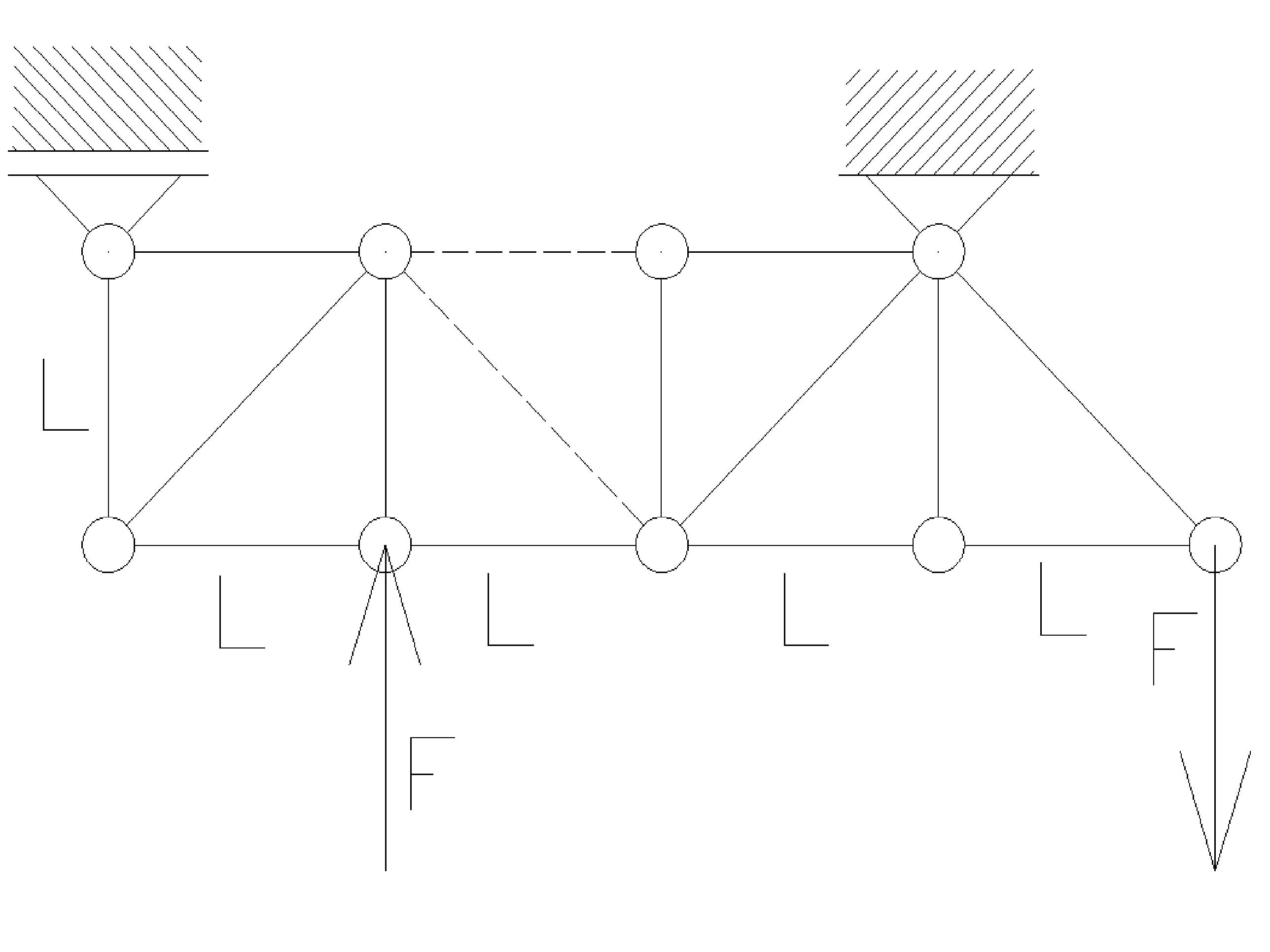 rozciaganie15 - Kratownica - metoda przecięć - statyka -zadanie 28