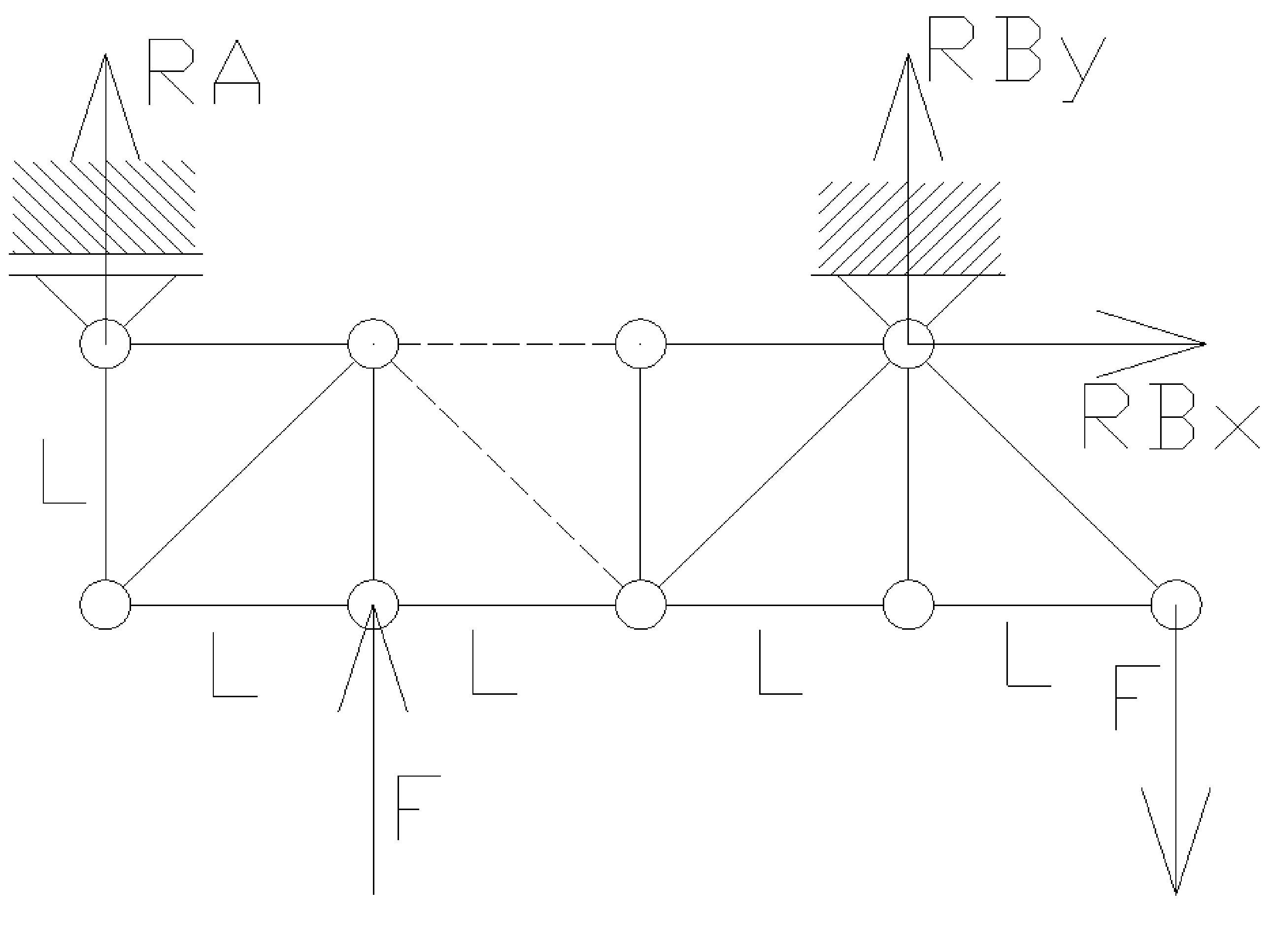 rozciaganie16 - Kratownica - metoda przecięć - statyka -zadanie 28