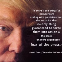 """politicians... the only thing guaranteed to force them into action is... fear of the press"""