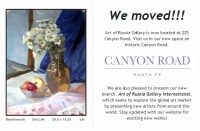 Art of Russia Gallery moved - May 2013